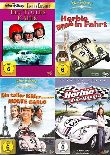 Herbie - Collection: Ein toller Käfer | Fully Loaded | Rallye Monte Carlo | Groß in Fahrt [4er DVD-Set]