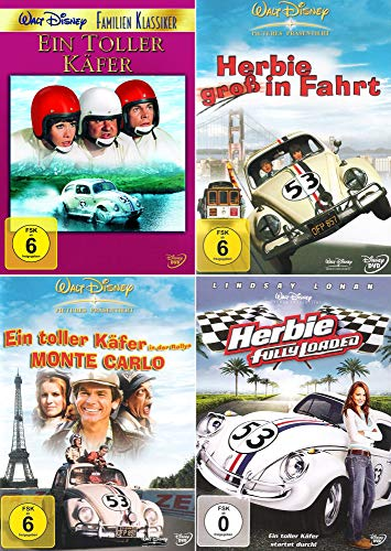 Herbie - Collection: Ein toller Käfer | Fully Loaded | Rallye Monte Carlo | Groß in Fahrt (4-DVD)