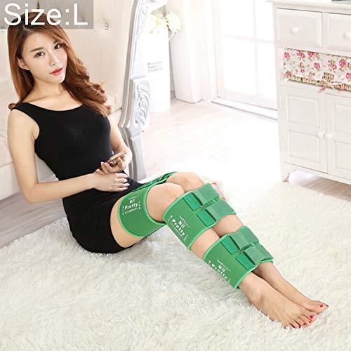 Corrección Joroba Hlk 3 PC/Sistema Corrector de la Postura de la Pierna O/X-Tipo piernas arqueadas Ortesis Vendaje Que se endereza Venda de la Correa, tamaño: L (Negro) (Color : Green)