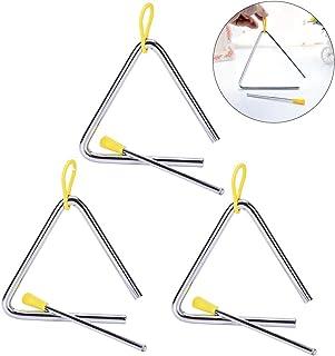 Hpamba Triángulos Musicales Infantiles Triángulo de Percusión Percusión Triángulo Musical Triángulo para Niños Instrumento...