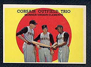 1959 Topps #543 Roberto Clemente Bill Virdon EX-MT 372372 Kit Young Cards
