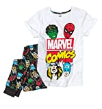 Womens Black Marvel Comics Pyjamas