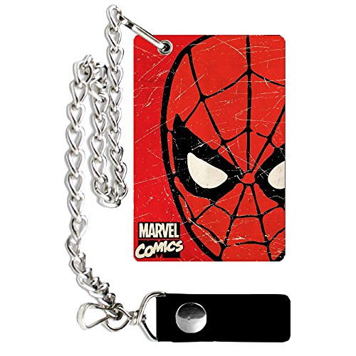 Marvel Silver Buffalo MV9301CW Spiderman verweerde ketting portemonnee