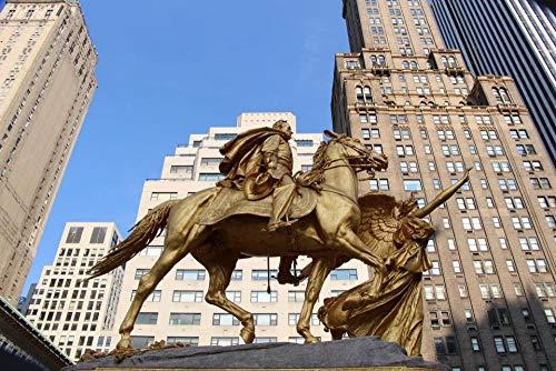Puzzle Jigsaw Rompecabezas 500 Piezas General Sherman Statue At Central Park'S Grand Army Plaza para Amigo Adulto