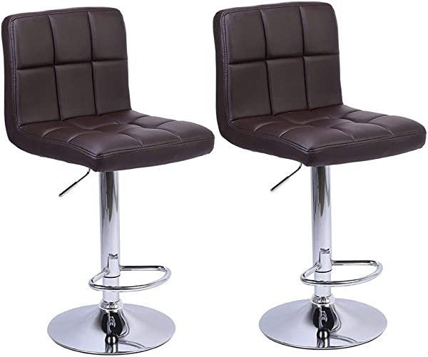 MuLuo 2pcs 60 80cm 6 Checks Round Cushion Bar Stools With Armrest Without Armrest Coffee