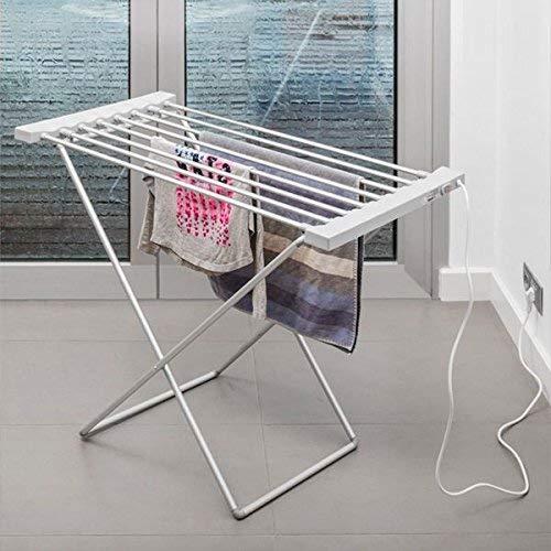InnovaGoods Elektrischer Wäscheständer, Aluminium und ABS-Kunststoff, silberfarben, 94x74x50cm