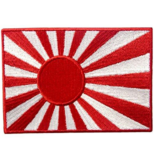 Bandera de la Marina de Japón Emblema Nacional Parche Bordado de Aplicación con Plancha