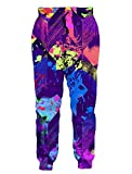 Cool Design Joggers Pants Sports Track Lounge Walking Trousers Vintage Purple Paint Graffiti Over Size Silky Soft Comfy Groovy Sportwear for Gym School Student Colleage Campus