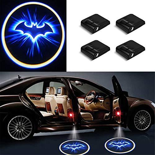 Lampada Da Proiezione A Led Per Auto, 4 Pezzi Di Proiettore Per Illuminazione Per Ingresso Auto Lampada Per Segnaletica Ad Alta Definizione 3d, Adatta Per Portiera (Pipistrello)