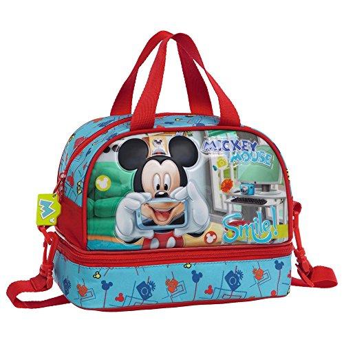 Disney Mickey Smile Beauty Case da Viaggio, Poliestere, Blu, 25 cm