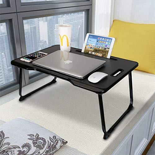 Astory Laptop Schreibtisch mit Griff, tragbare Laptop Bettablage Tisch Notebook Ständer Lesehalter mit faltbaren Beinen...