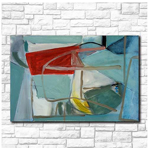 LangGe Tela Quadro Modern Expressionism III Abstract-paintin Foto a Colori su Tela per Soggiorno Camera da Letto per Ufficio Moderna 60x90cm Senza Cornice