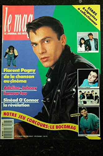 LE MAG 7 1990 COVER FLORENT PAGNY + POSTER ROCH VOISINE SINEAD O\'CONNOR BIG FUN JOHNNY HALLYDAY ADELINE