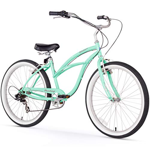 Firmstrong Urban Lady Seven Speed Beach Cruiser Bicycle, 26-Inch, Mint Green