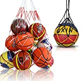 Viesap 2Pcs Sac Filet de Ballon,Sac de Balles Filet,Polyester Pliant Rangement Durable Réutilisable Multifonction pour Le Football,Basketball,Rugby Ball,Volley-Ball,Handball,Le Tennis.
