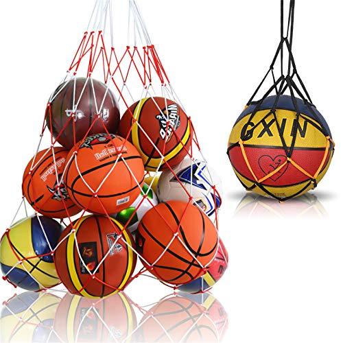 Viesap Ballnetz, Balltaschen&netze, Balltragenetz Ball Carry Net passend für 10-15 Bälle,Fußball,Basketball,Volleyball,Handball,Nylon,Sports Mesh Tasche with Kordelzug,für EIN Ball&Mehrere Bälle.