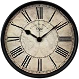 Relojes Reloj de Pared Metal Wall Clock Creatividad Retro Hierro Forjado ArtesaníA por Hogar Sala Cuarto Estudio (Color : A)