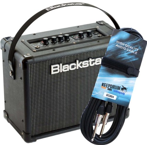 Blackstar ID Core 20 V2 Stereo Combo Gitarren-Verstärker + keepdrum Gitarrenkabel GC-004 6m