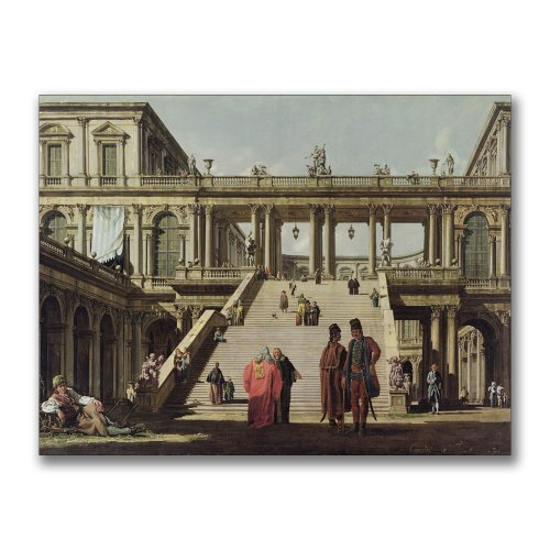 Castle Courtyard, 1762 by Canaletto, 35x47-Inch Canvas Wall Art