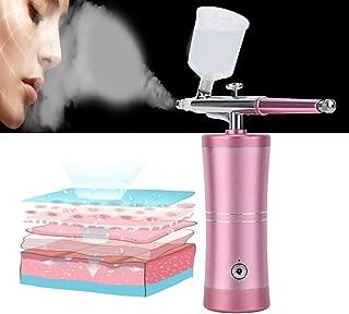 Air Compressor Airbrush, Handheld Mini Air Brush Gun Face Skin Moisturizing Oxygen Spray injector for Makeup Art Nail Painting Tattoo Manicure Cakes DIY Tool (02)