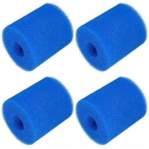 LXTOPN Filterschwamm Typ H für Intex, Schwimmbad Filter Schwamm, Patronenschwamm, Waschbarer Spa-Filter für Spa, Poolfilter Schwimmbad Filter Schaum Für Schwimmbad Aquarium Whirlpool (4 Stück)