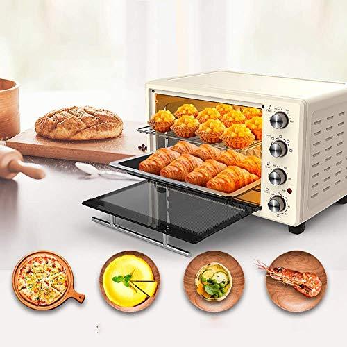 Electric oven ZLMI mini-oven met meerdere functies, 32 l, automatisch, hoge capaciteit en elektronische thermostaat, voor kippenvleugels, afmetingen: 43 x 33 x 33 cm