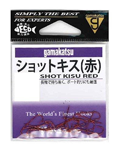 がまかつ(Gamakatsu) ショットキス フック (赤) 7号 釣り針