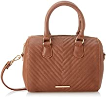 Club Aldo Quilted Faux Leather Front-Logo Top-Handle Crossbody Bag for Women