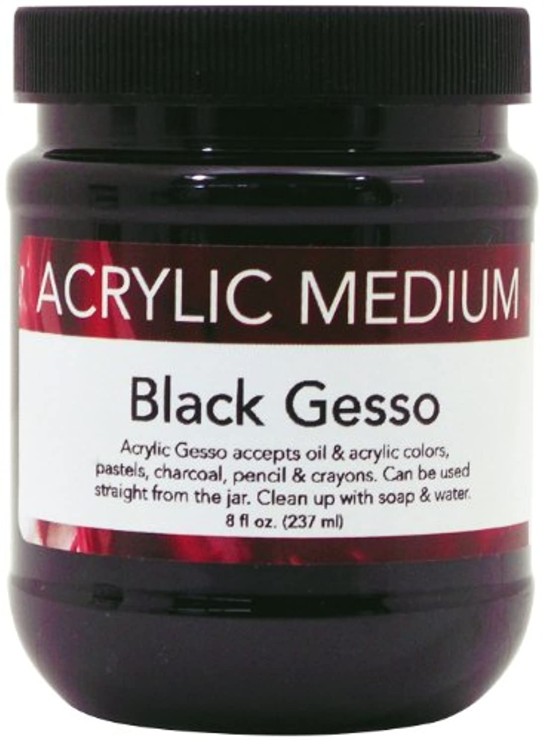 Art Advantage 8-Ounce Acrylic Black Gesso