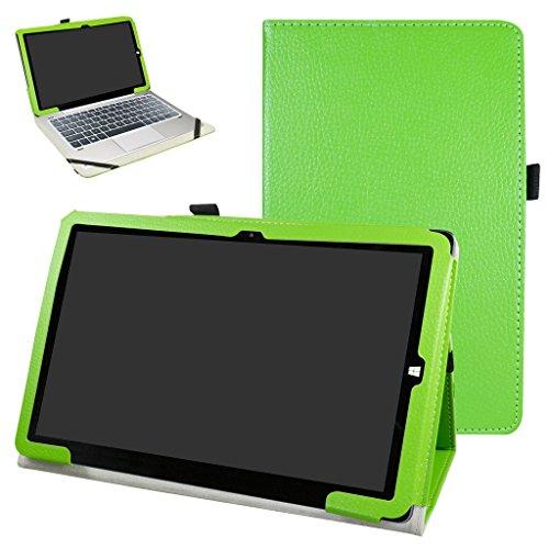 MAMA MOUTH Chuwi hi10 Pro / hi10 Funda, Slim PU Cuero con Soporte Funda Caso Case para 10.1' Chuwi hibook hi10 Pro/hibook hi10 Windows + Android Dual OS Tablet PC 2016,Verde