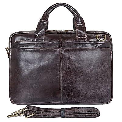 Jsix Homme sac à main besace CARTABLE Serviette EN Cuir sac à bandoulière Sac Porte-documents sac de messager