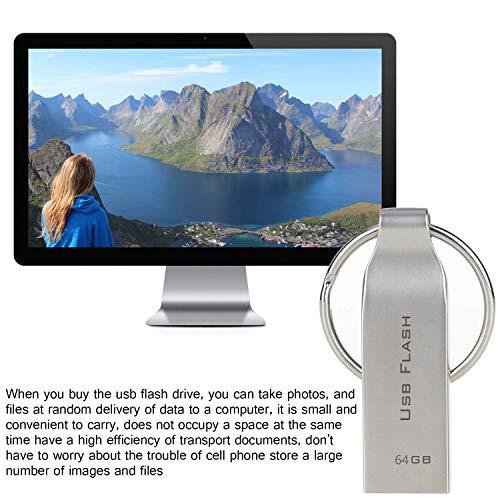 maxineer USB Stick 64GB Speicherstick Metall Wasserdicht USB-Flash-Laufwerk Memory Stick mit Schlüsselring (64gb)