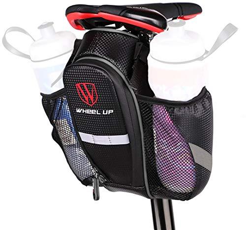 WATERFLY Fahrrad Satteltasche, wasserdichte Rahmentasche Fahrradtasche mit Zwei Wasserflaschenhalter für Mountainbikes, Fahrräder und Rennräder