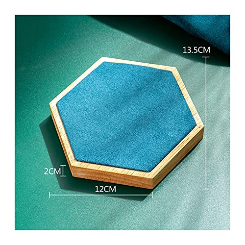 SONG Moda Collar de Madera Soporte Azul Soporte para titulares de joyería Organizador de joyería Joyería Mostrar Caja Maniquine Personalizado (Color : C)