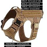 KERVINFENDRIYUN YY4 Perro Modular arnés de Tiro Delantero con Sin Clip Aplicación de la Ley de Trabajo Elasticidad Caza Chaleco (Color : Coyote Brown, Size : M Chest 25 to 31inh)
