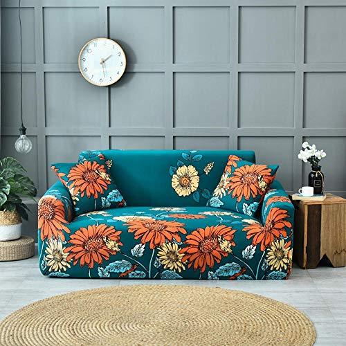 JIAHENGY Cubre Sofas Impermeable Protector,Funda de sofá con Flores elásticas, Funda de sofá Suave para Asiento 1/2/3/4,...