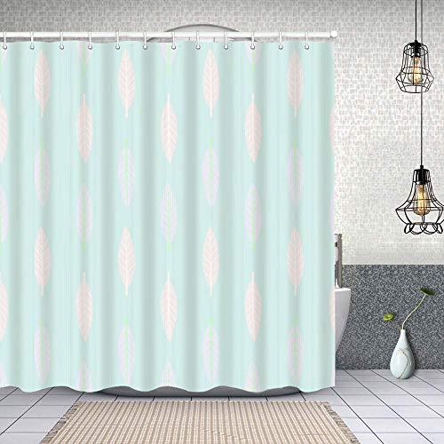 MAYUES Cortina de Ducha Impermeable Pastel Multicolor geométrico de Patrones sin Fisuras Verticales Cortinas baño con Ganchos Lavable a Máquina 62x72 Inch
