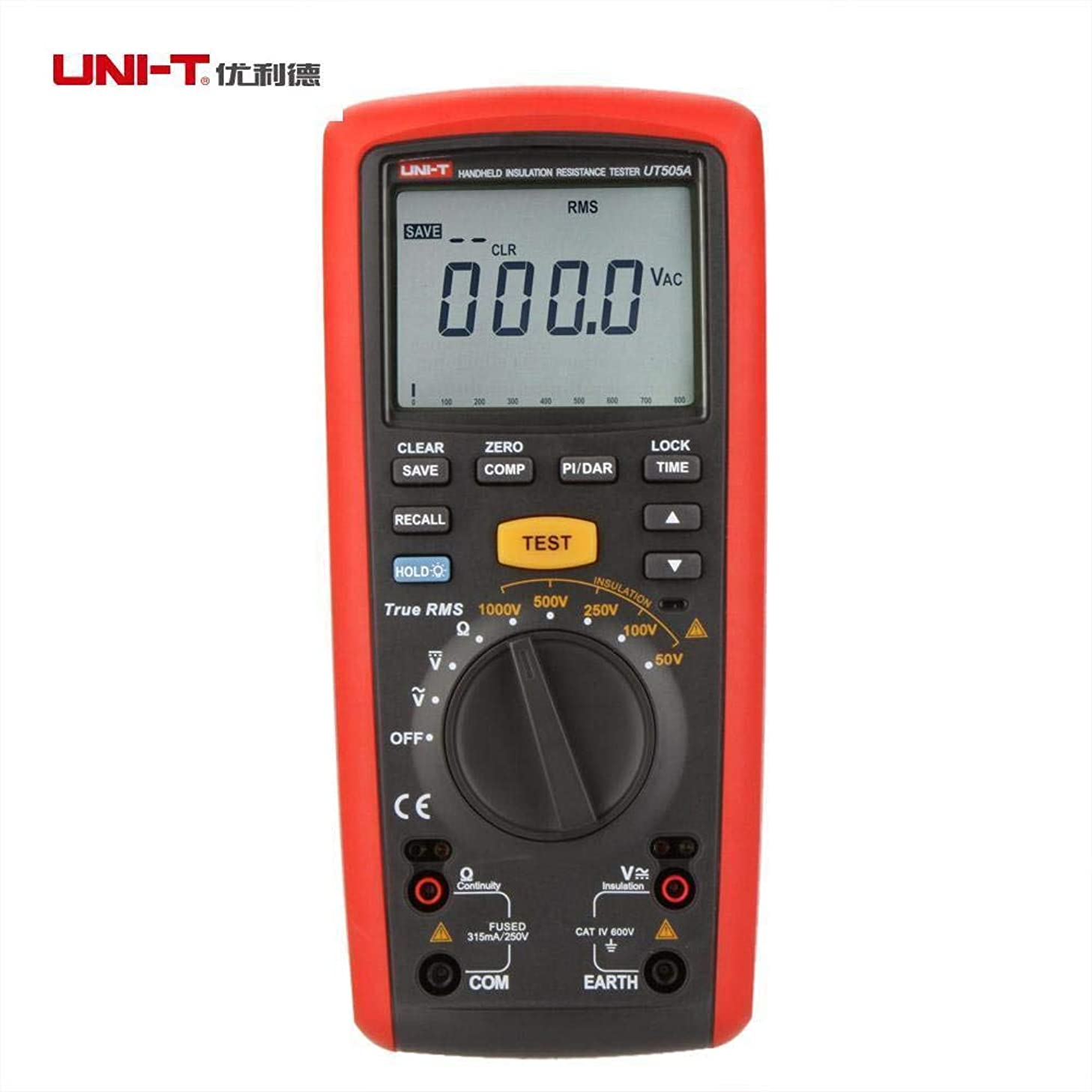 UNI-T UT505A Digital Handheld Insulation Resistance Multimeter True RMS Meter