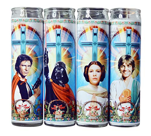 My Pen15 Club Star Wars Celebrity Prayer Candle Set of 4 - Han Solo, Darth Vader, Princess Leia, Luke Skywalke
