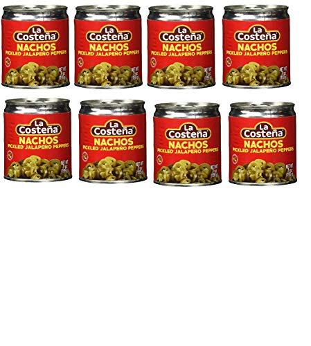 8 DosenLa Costena Jalapeno Nacho Scheiben | 199gr | Mexikanische Küche | Jalapenos in Scheiben geschnitten | mild bis mittelscharf | Zu Enchiladas oder Quesadillas | Hervorragender Geschmack