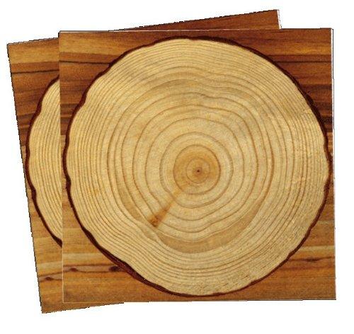 DH-Konzept 20 Papierservietten im * Holz Design * für Party und Geburtstag Servietten Napkins Feier Fete Set Baumstamm Wood