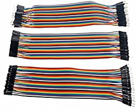 PIXNOR Pcs cm Pin Male to Male,Male to Female,Female to Female Breadboard Jumper Wires Ribbon Cable As Shown
