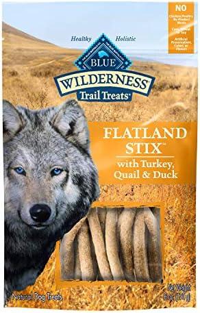 Blue Buffalo Wilderness Flatland Stix High Protein Grain Free Soft Moist Dog Treats with Turkey product image