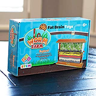 Fat Brain Toys Worm Farm Maker & DIY Kits for Ages 6 to 10