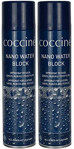 Cocciné Nano Water Block (insgesamt 800ml) Imprägnierspray Schuhe Nubuk Velours Glattleder, 2x 400 ml