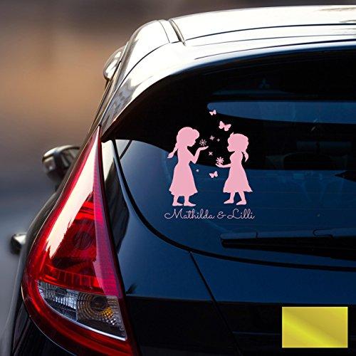 Ilka Parey Sticker Autocollant Voiture Pare-Brise Arrière véhicule autocollant bébé Reine des Neiges Frozen Kinder M1872, or, L - 22cm breit x 30cm hoch