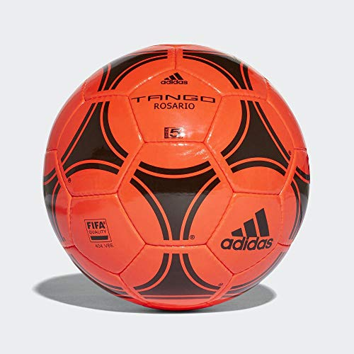 adidas Tango Rosario Balón de Fútbol, Hombres, Core Black/Solar Red, 5