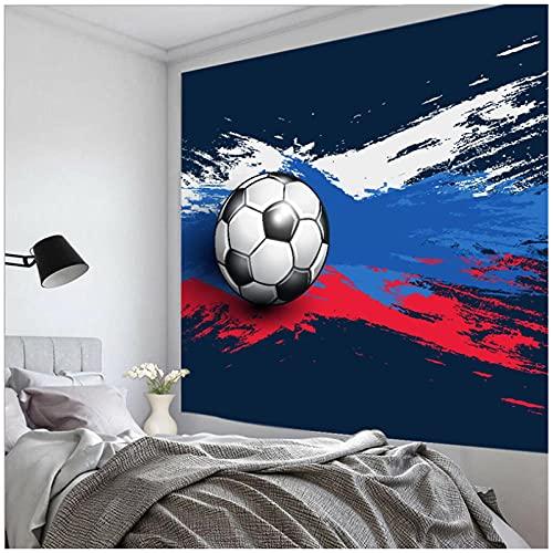 Tapiz by BD-Boombdl Uefa Euro 2021 Deportes Color Pintura Fútbol Colgante de pared Arte de la pared Fondo Estera de camping Decoración de dormitorio 59.05'x78.74'Inch(150x200 Cm)
