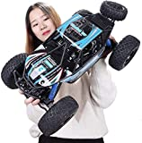 Wghz 1/10 4WD RC Rock Crawlers Conducción de automóviles Motores Dobles Conducir Big Foot Camiones de Alta Velocidad Modelo de Control Remoto Vehículo Todoterreno para niños Regalos de Juguete Me