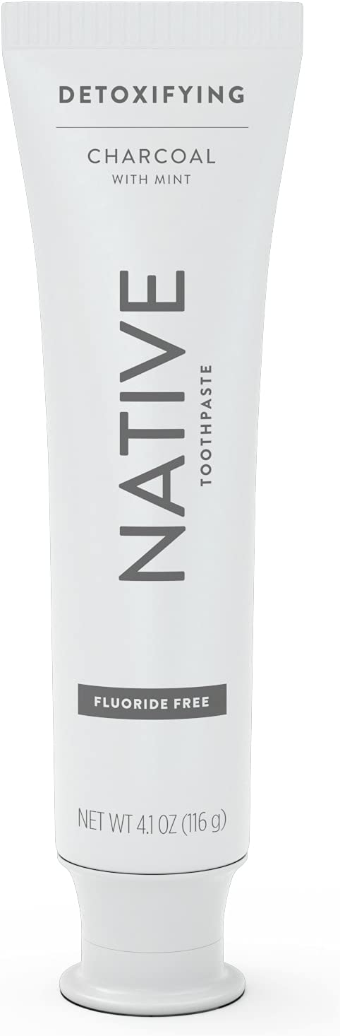 Native Toothpaste Charcoal 67% OFF of fixed price with Mint Fluoride Free 4 shipping New
